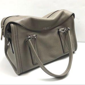 Marc Jacobs Wellington Leather Satchel Mink Grey